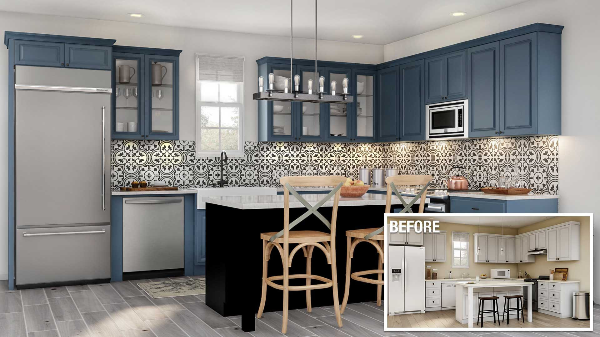 Major kitchen remodel cost in Orange County ca