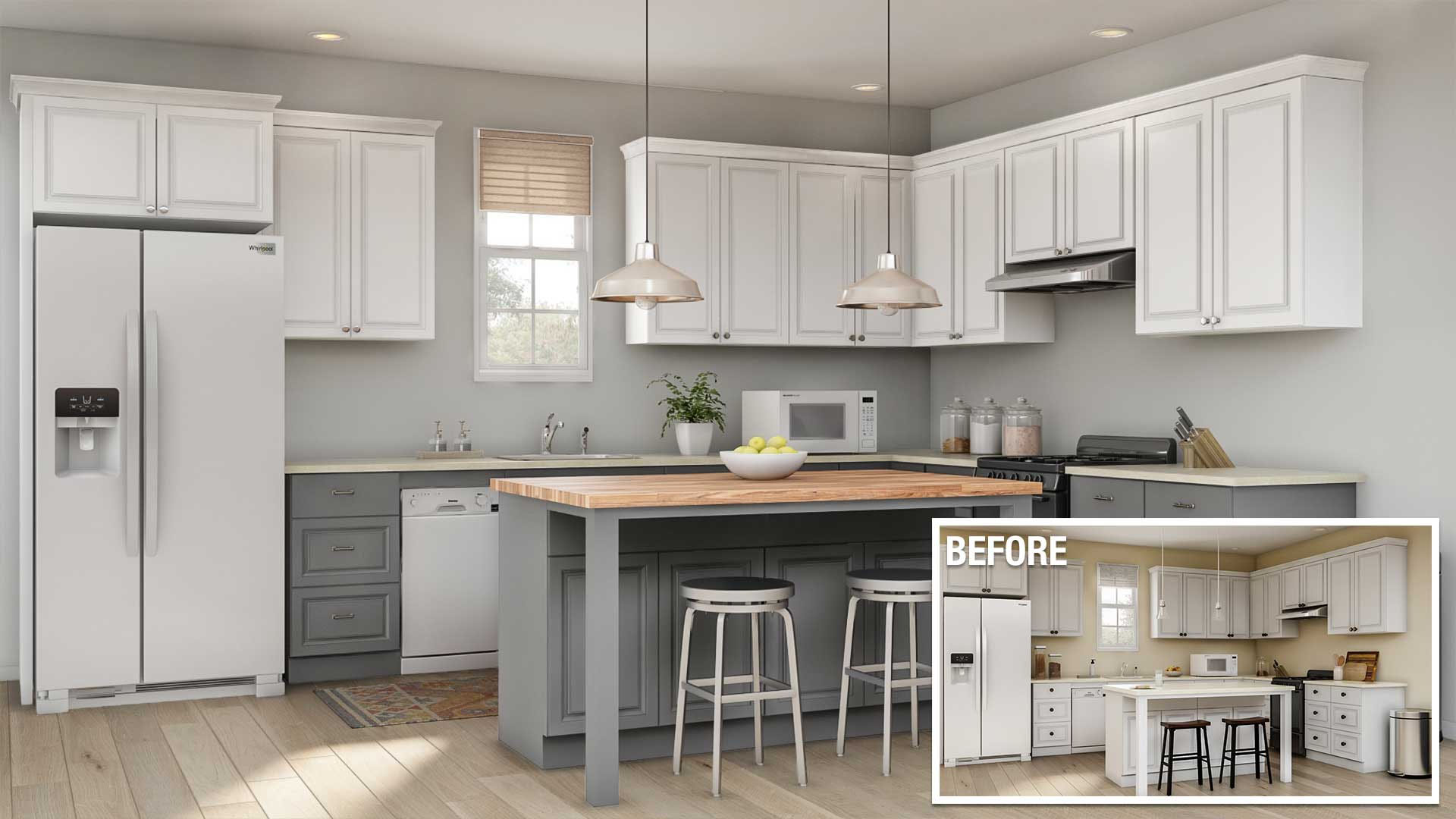 minor kitchen remodel cost in Orange County ca