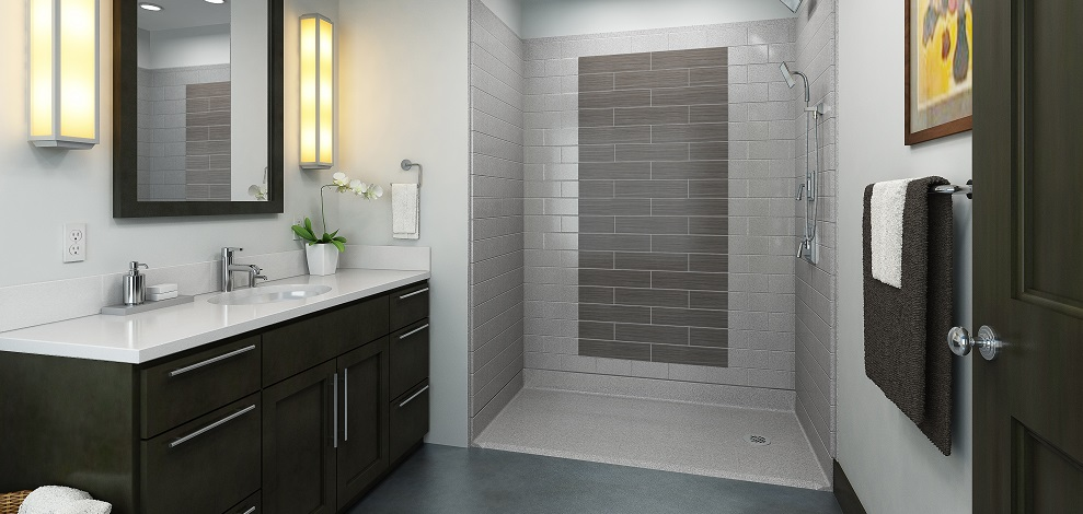 Top 5 things to consider when designing an accessible bathroom for wheelchair users.